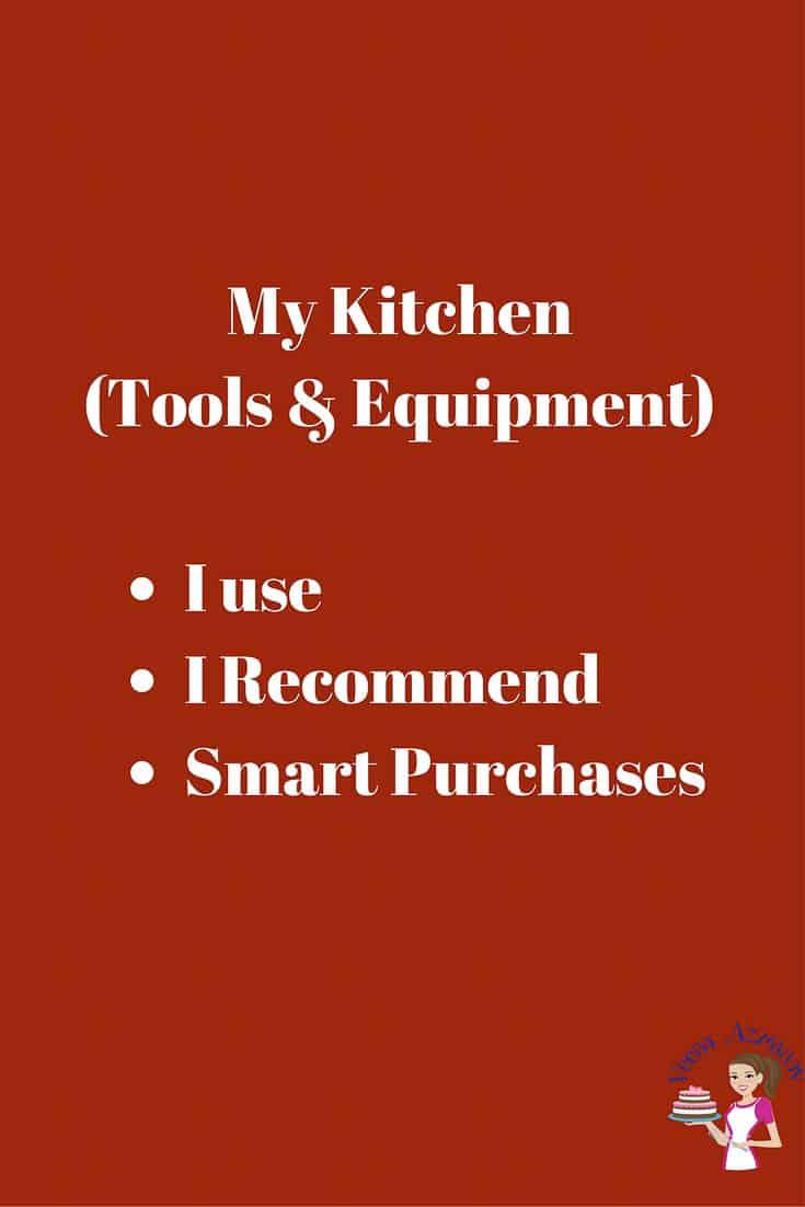 My Kitchen Tools and Equipment  Veena Azmanov