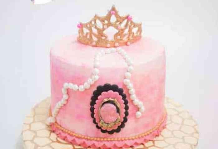 Gum Paste Princess Crown And Cake Video Tutorial Veena Azmanov