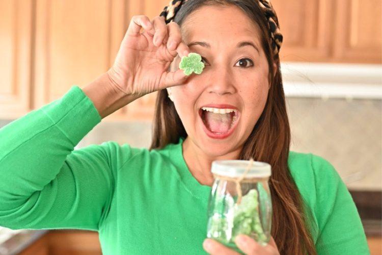 Homemade Shamrock Gummies
