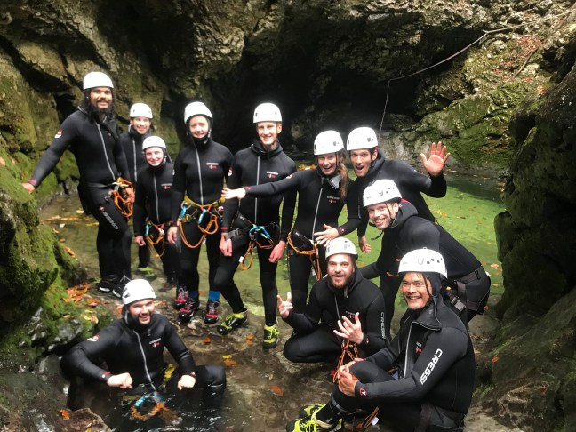Canyoning in Bled