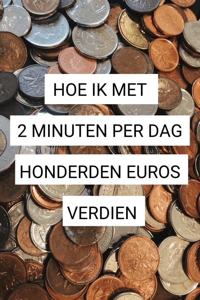 Hoe kan je met nog geen 2 minuten per dag honderden euro's verdienen?