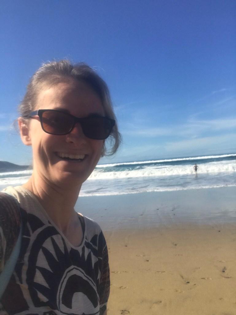 Veerle op het strand