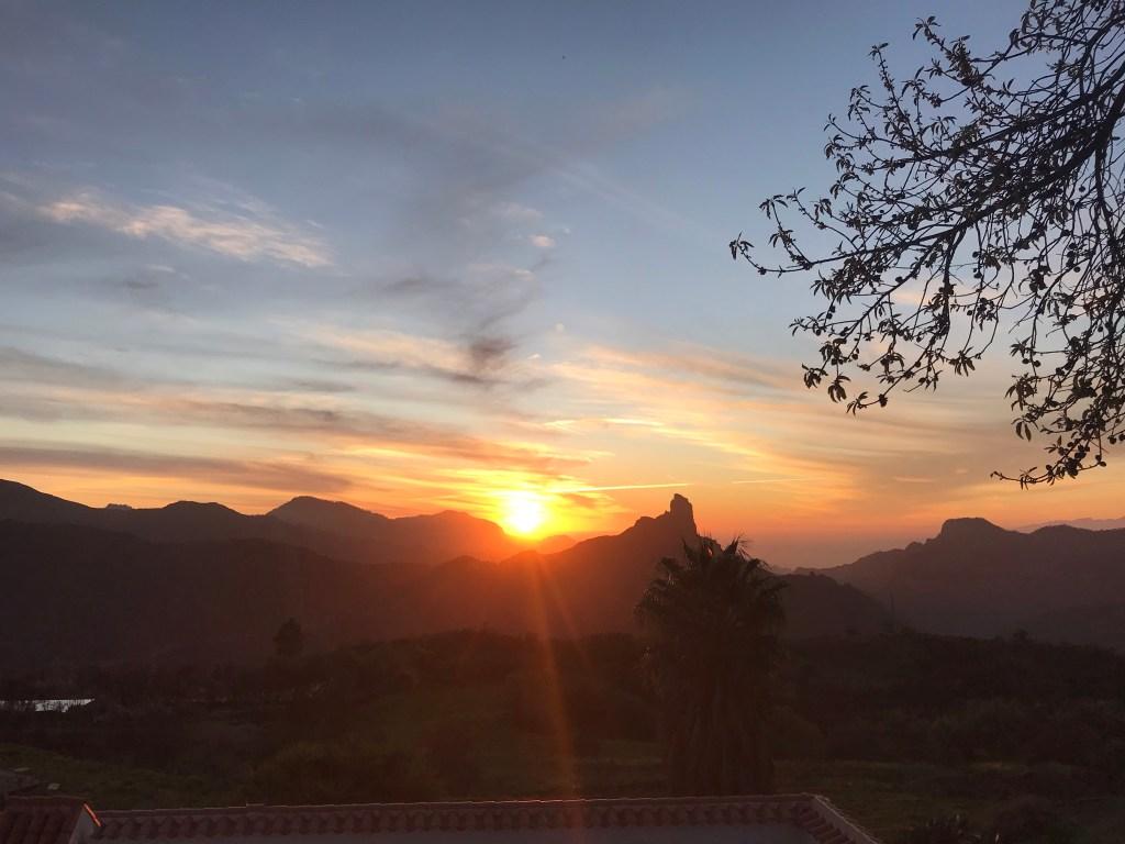 Genieten van het uitzicht op Gran Canaria