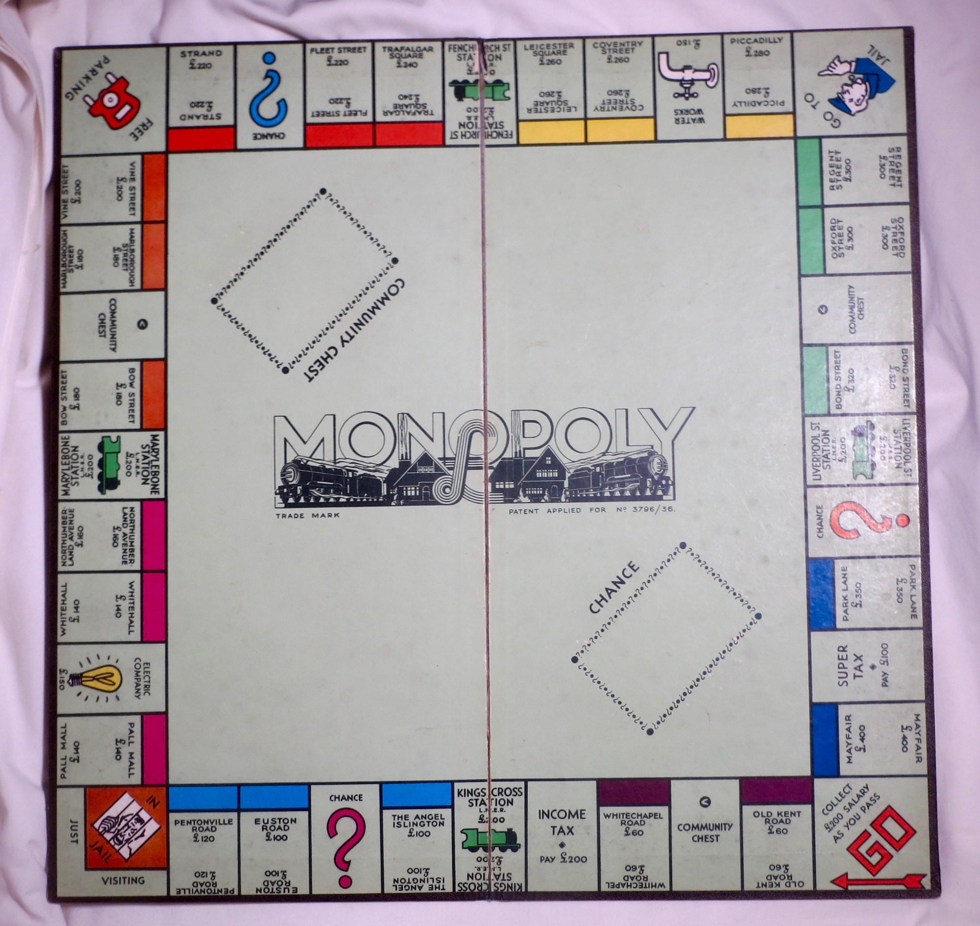 hight resolution of monopoly board game patent 3796 36