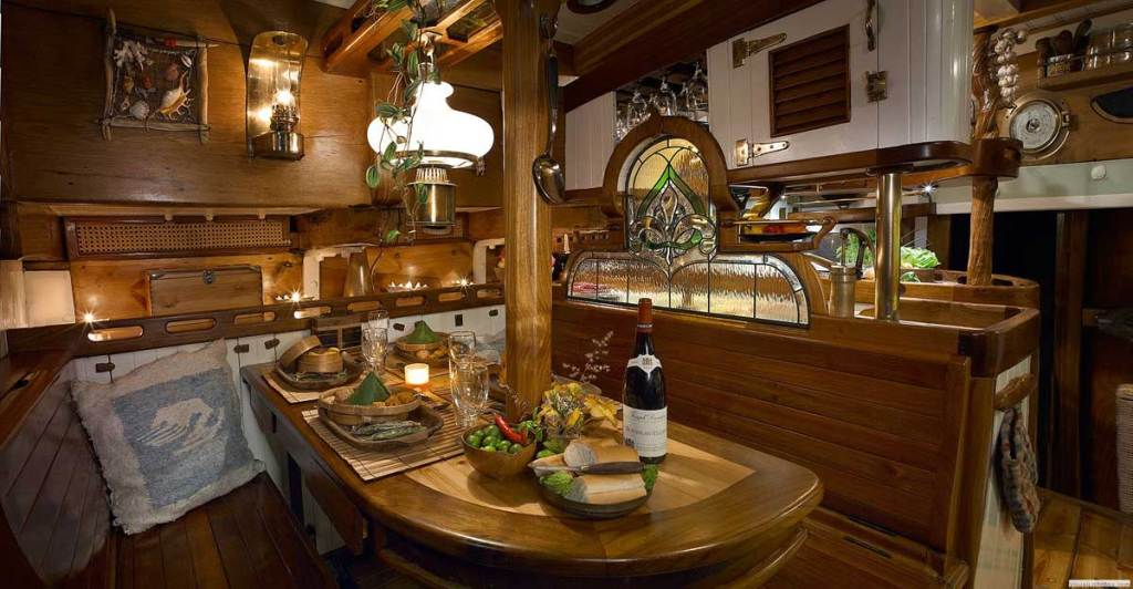 Historic Vessel Vega Interior refit without sacrificing a single tree