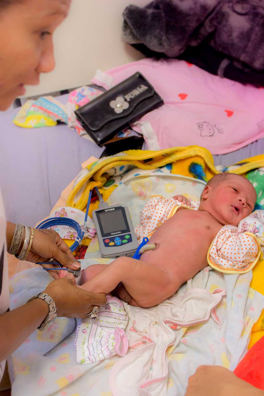 Pulse/Oxy meters for both natal and adult use as well as fetal heart beat monitors make an important difference for these hard pressed doctors.