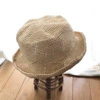 笹和紙の夏帽子が完成しました。軽く、折りたたみも出来るので、便利です。