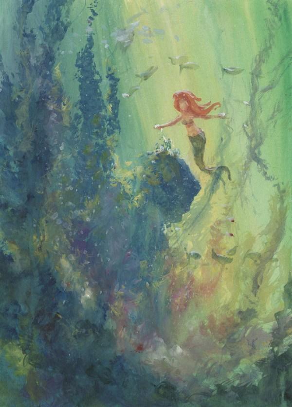 Little Mermaid Concept Painting - Id Julymermaid0482 Van Eaton Galleries