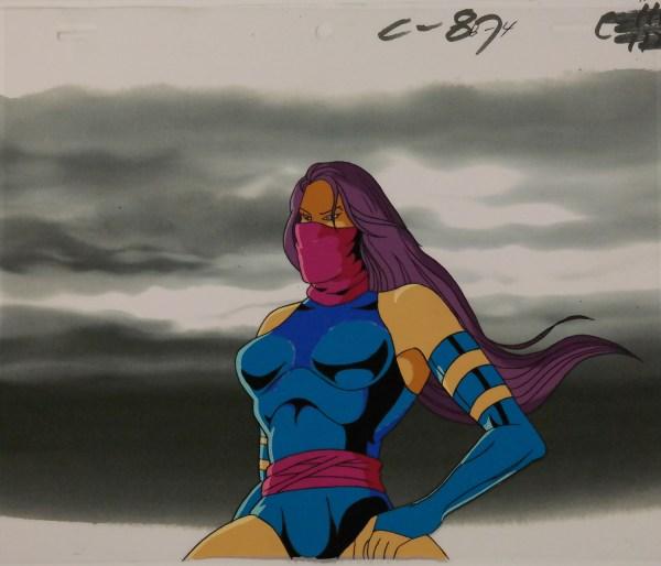 X-men Psylocke Production Cel - Id Octxmen0413 Van Eaton Galleries