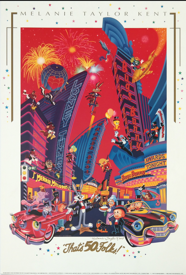 looney tunes 50th anniversary poster