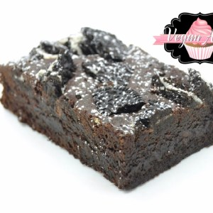 Vegan Oreo Fudge Brownies
