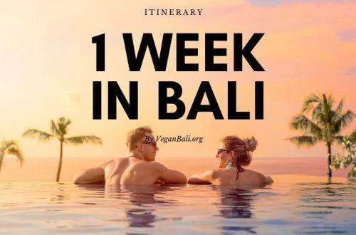bali itinerary 7 days