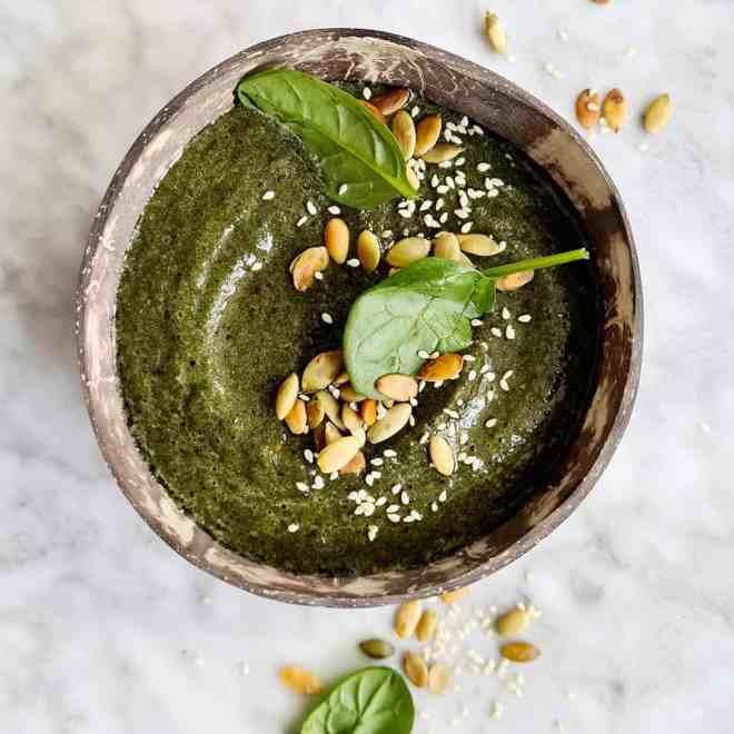 Energie smoothie met spinazie
