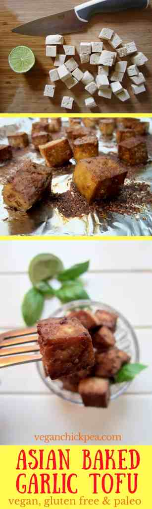 Asian Baked Garlic Tofu recipe - easy, versatile and mess free! + gluten free & paleo | veganchickpea.com
