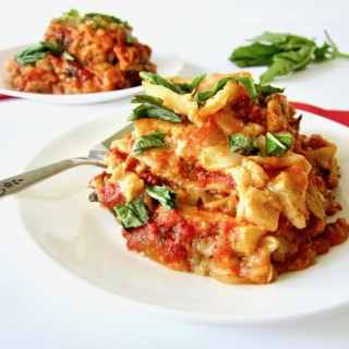 Vegan and Gluten Free Slow Cooker Lasagna