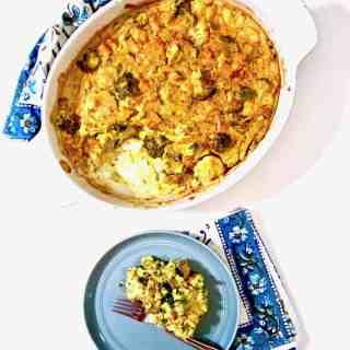 Cauliflower, Broccoli & Sweet Potato Turmeric Casserole