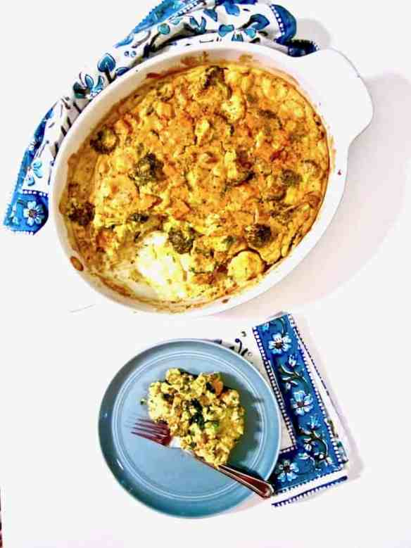 Cauliflower, Broccoli & Sweet Potato Turmeric Casserole recipe - A healthy, clean, real food recipe to nourish your entire family! Also use this recipe as a template and sub whatever veggies and seasonings you have on hand! (Vegan, gluten + oil + soy free, nut free option)   veganchickpea.com
