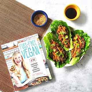 Vegan Lettuce Wraps with Umami Lentils from Fuss-Free Vegan