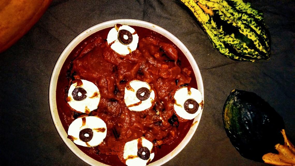 noodles sauce tomate yeux falafels