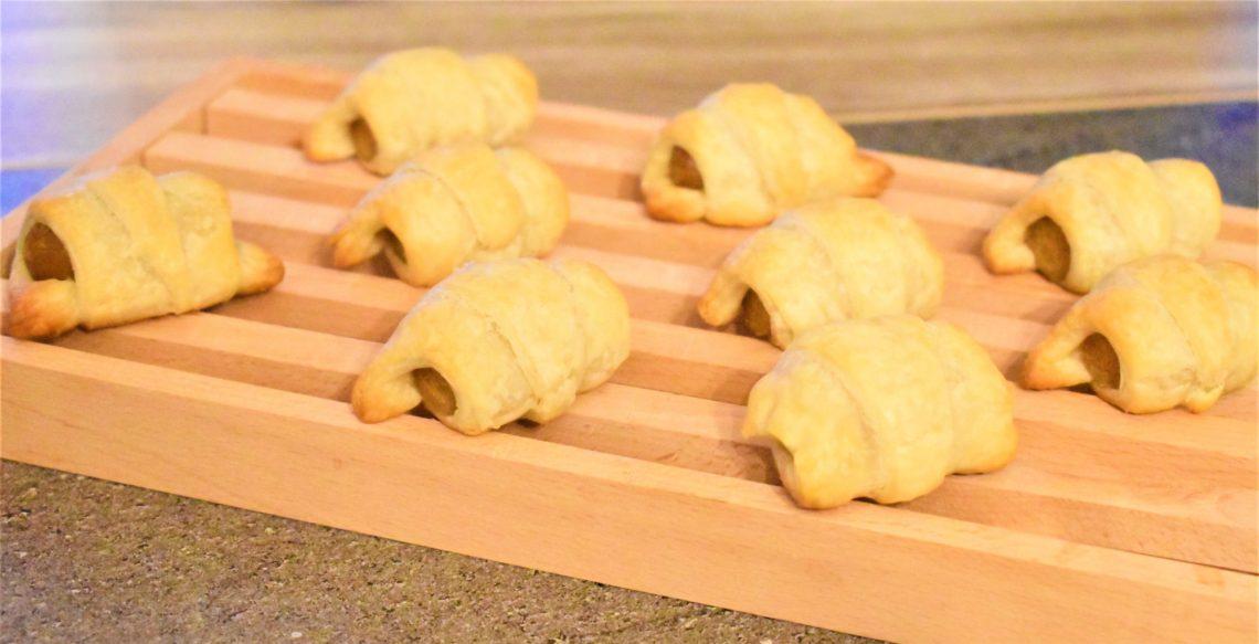 Mini-croissants à la saucisse