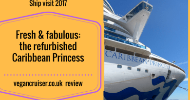 Caribbean Princess refurbishment vegancruiser review
