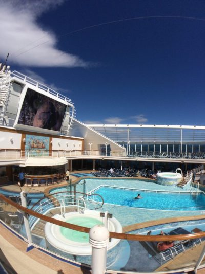 Caribbean Princess refurbishment Movies Under the Stars new screen