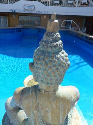 Caribbean Princess Sanctuary pool Buddha