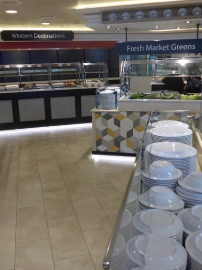 serving stations World Fresh Marketplace buffet Caribbean Princess refurbishment