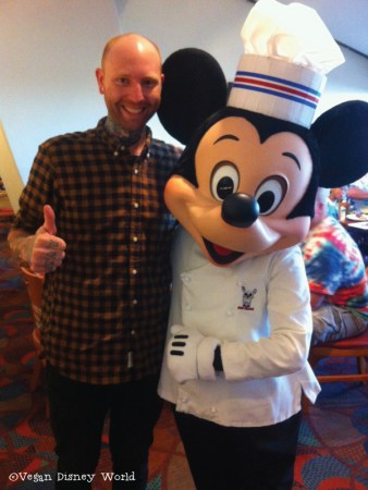 Corey with Chef Mickey