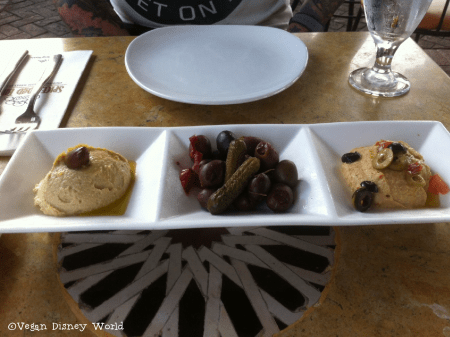 Hummus and Imported Olives