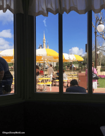 View from inside the Plaza Restaurant