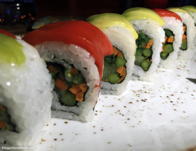 Rainbow Sushi Close Up