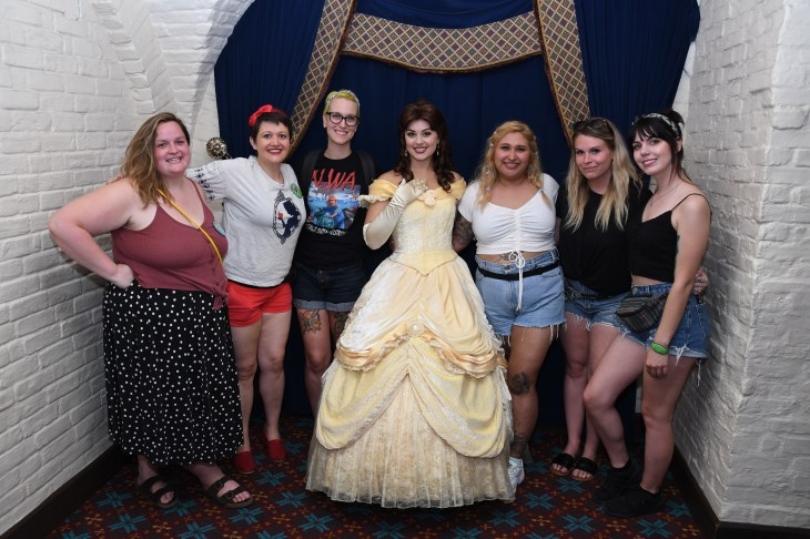Melissa and friends with Belle
