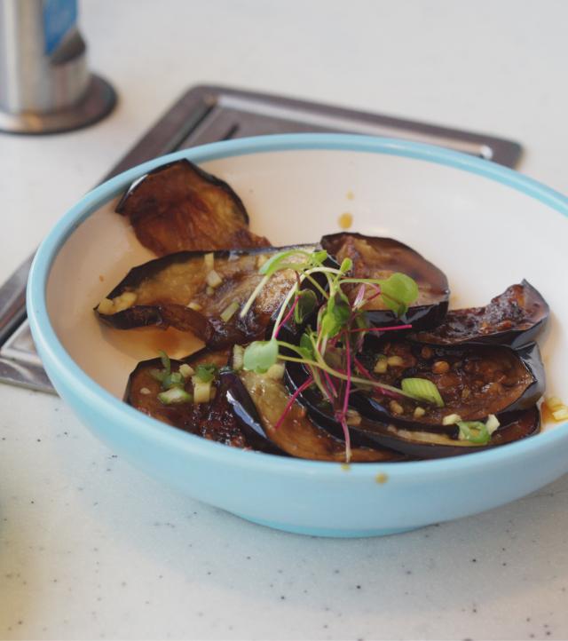 Harusame aubergine at Yo Sushi