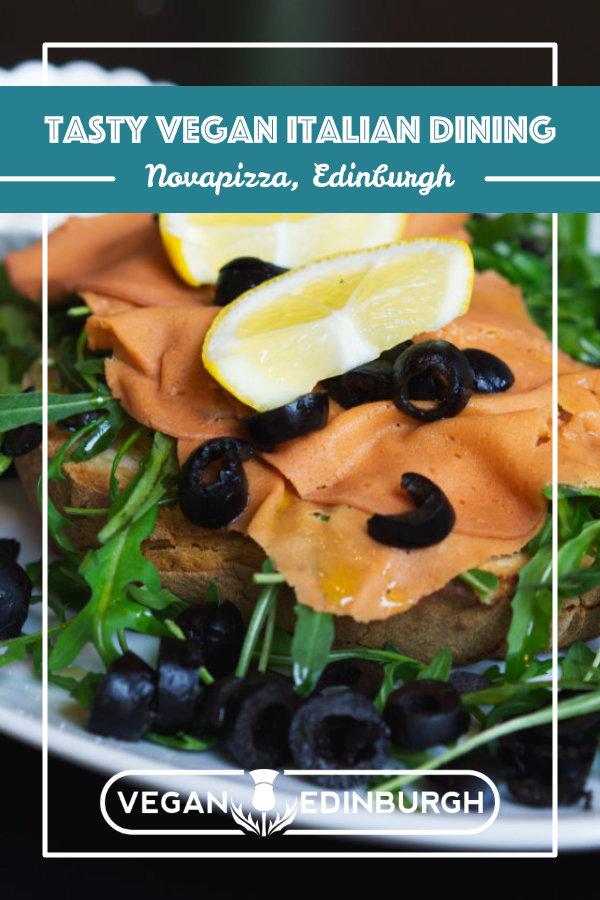Vegan food at Novapizza, Edinburgh