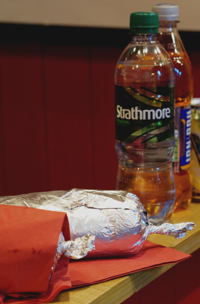 Wrapped up Burrito at Bonnie Burrito, Edinburgh