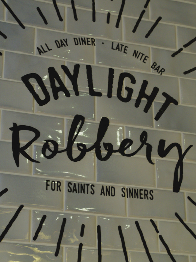 Daylight Robbery Sign