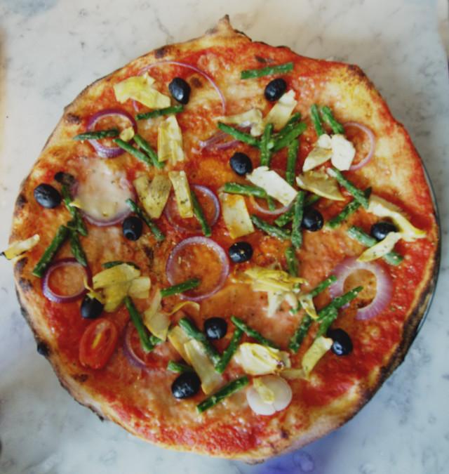 Pizza Express Vegan Giardiniera pizza
