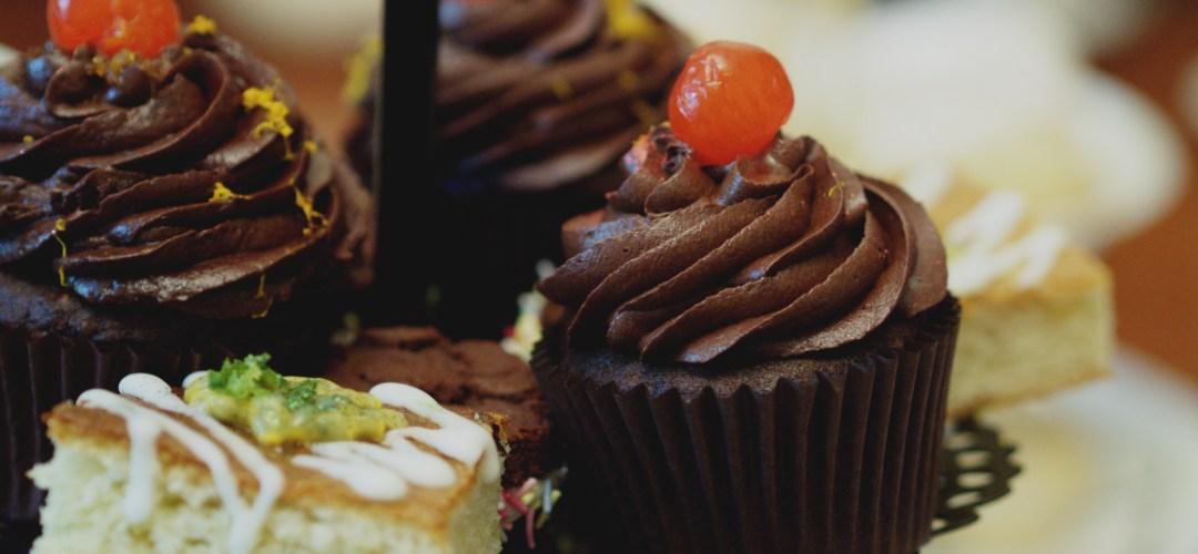 Chocolate orange cupcakes at Casa Angelina, Edinburgh