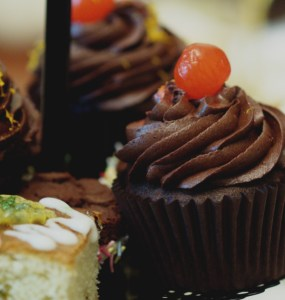 Chocolate orange cupcakes at Casa Angelina, Edinburgh