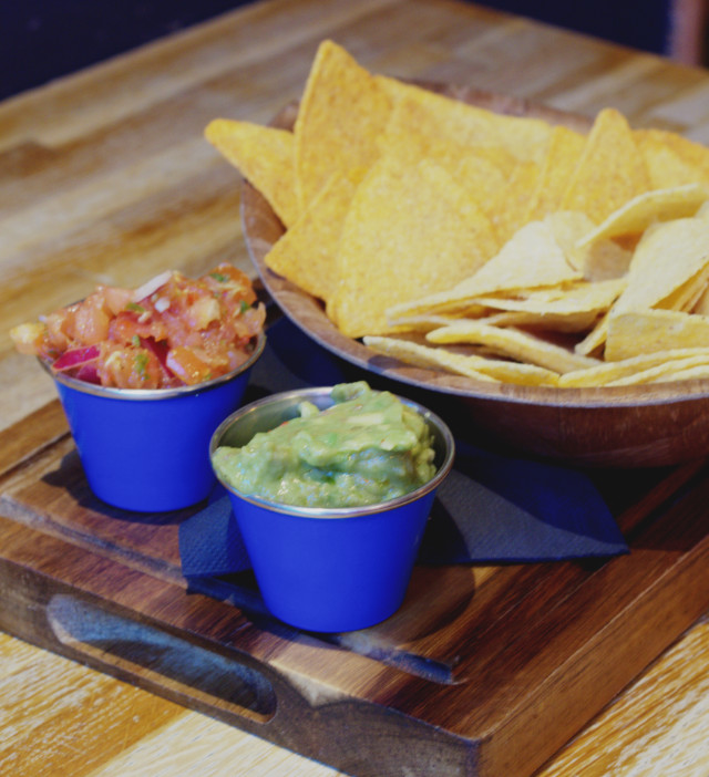 Chips and dips at Illegal Jacks, Edinburgh