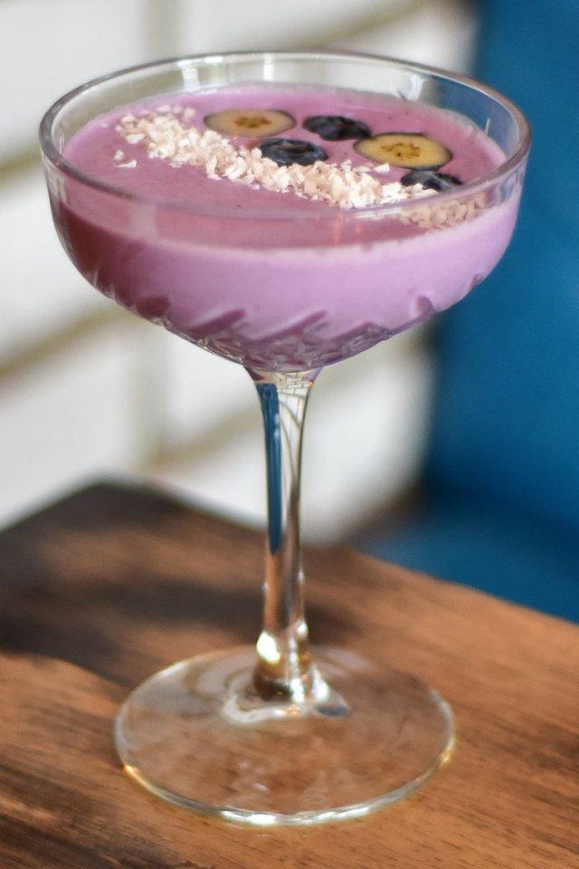Vegan cocktail at Finn & Bear, Edinburgh