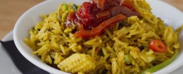 Vegan kedgeree at Akva