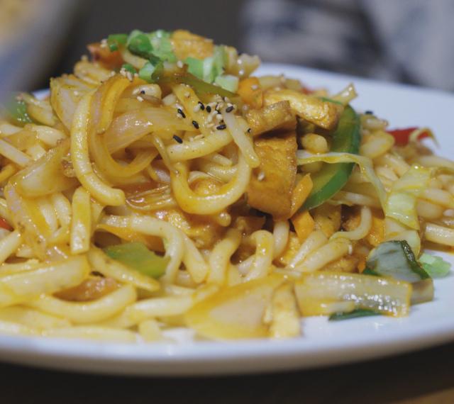 Vegan noodles at Tangs Edinburgh