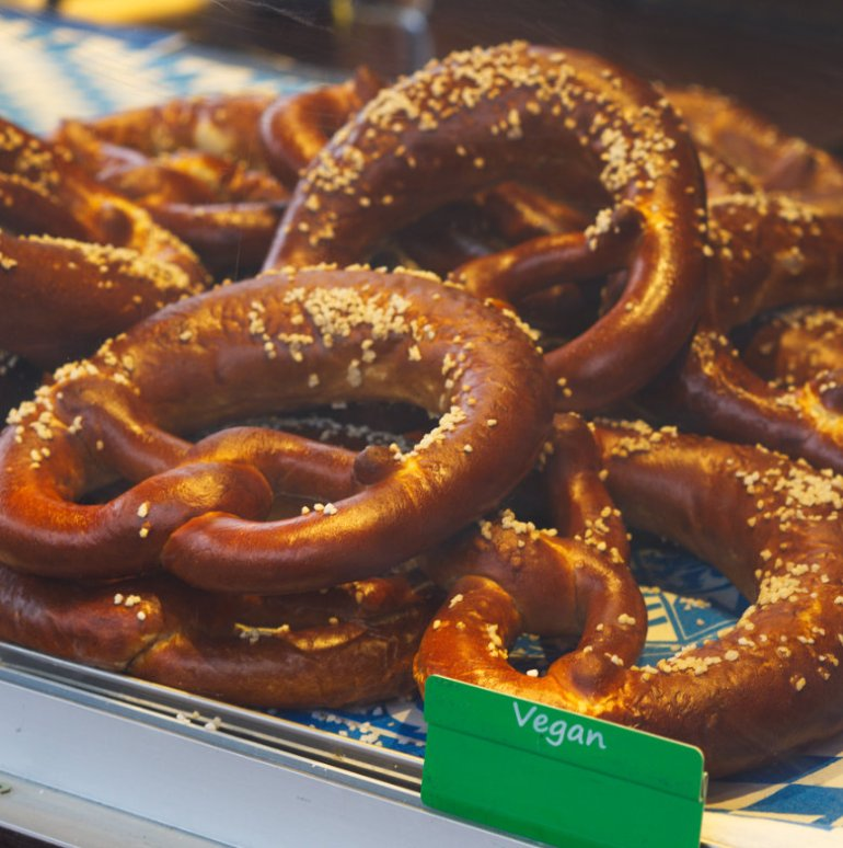 Vegan Pretzels at Edinburgh's Christmas