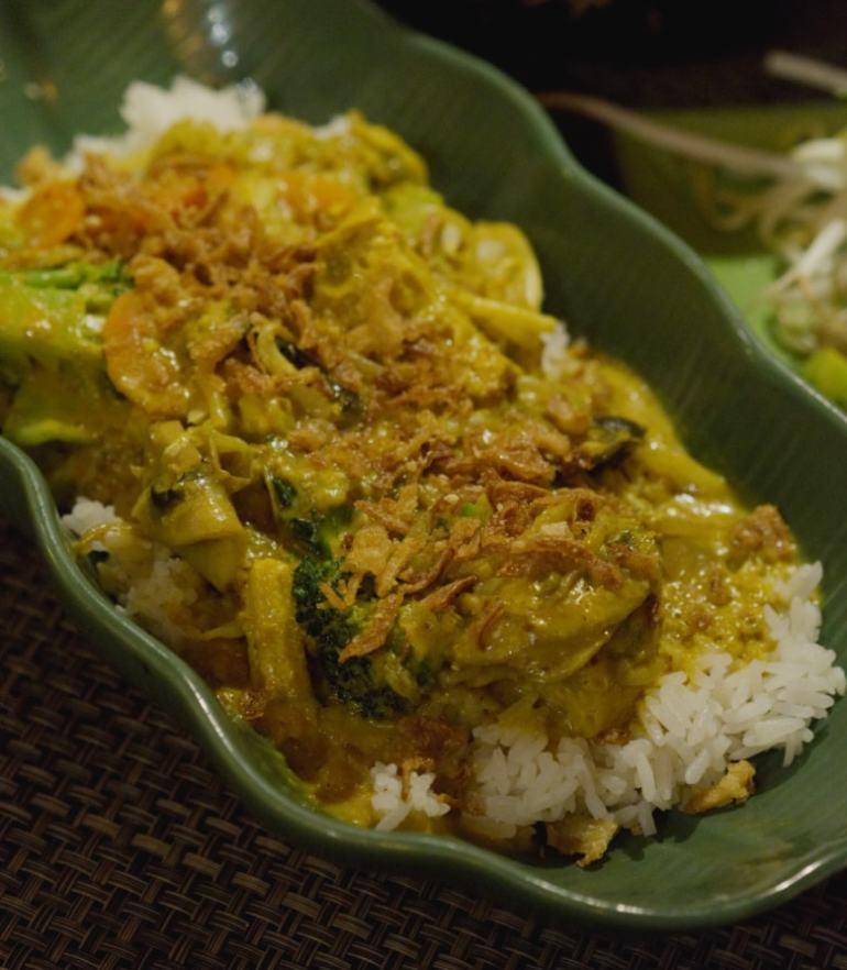 Braised vegetables with lemongrass at Vietnam House, Edinburgh