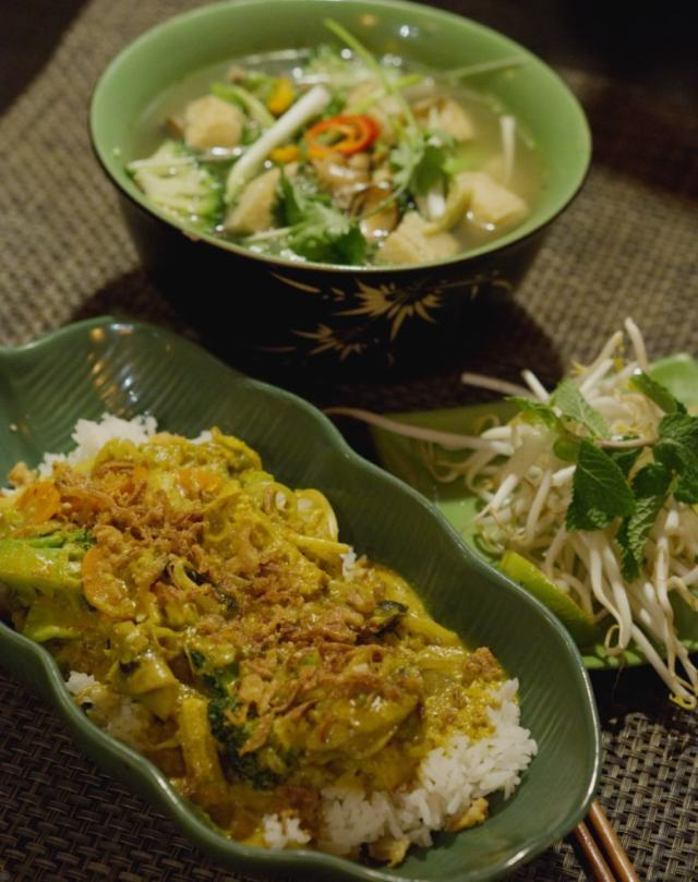 Vegan food at Vietnam House, Edinburgh