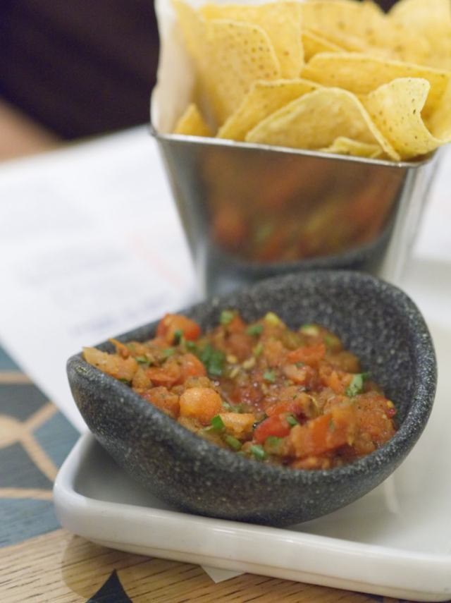 Chips and salsa at Wahaca Edinburgh