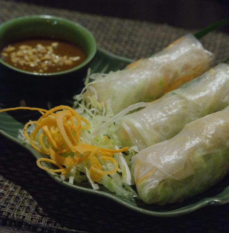 Vegan fresh spring rolls at Vietnam House, Edinburgh