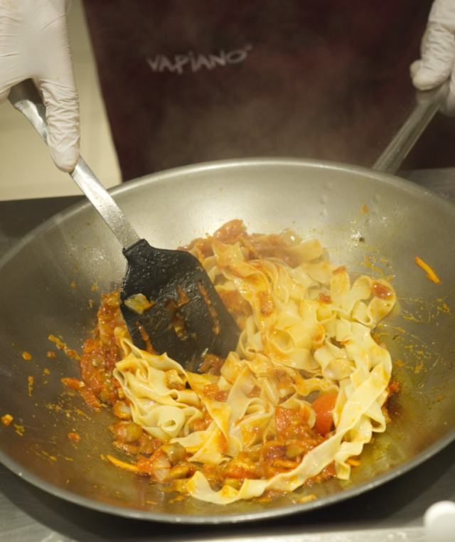 Cooking at Vapiano Edinburgh